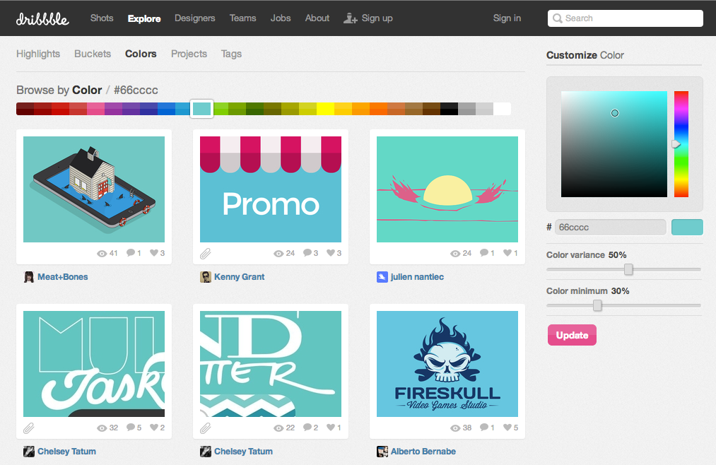 Dribbble_-_Browse_by_color