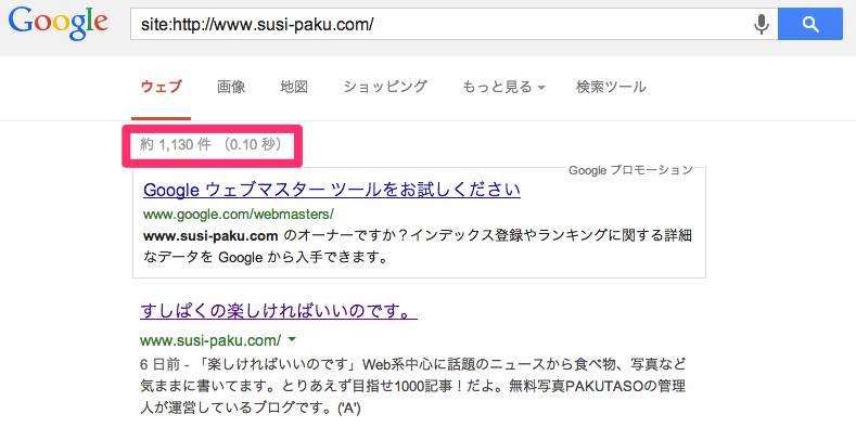 www.susi-paku.comのインデックス数